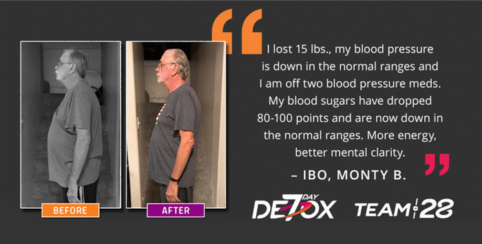 Monty - Before and After results from using Pure Detox Kit